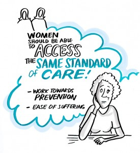 Women should be able to access the same standard of care